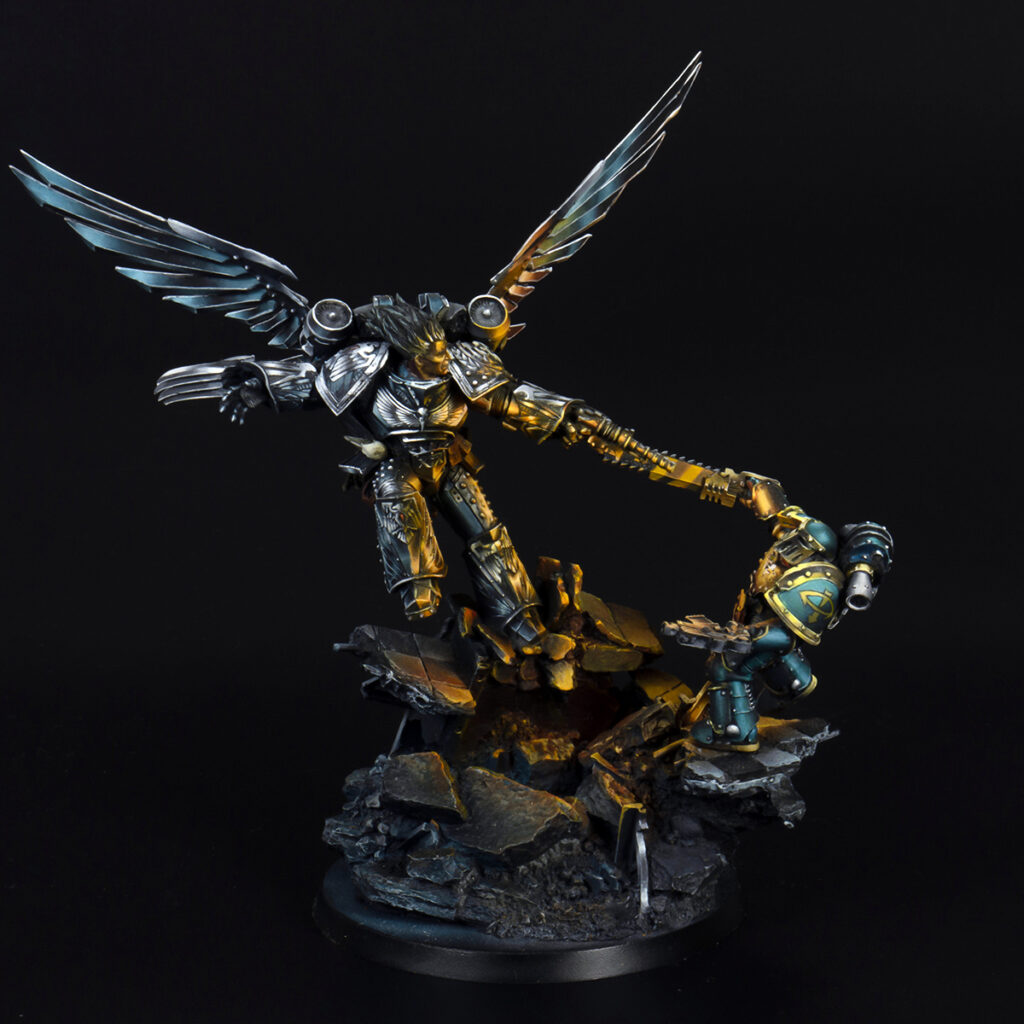 Corvus Corax, Primarch of the Raven Guard from Forge World